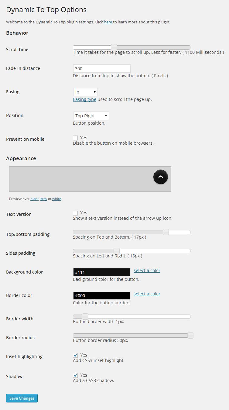 Dynamic To Top Plugin2